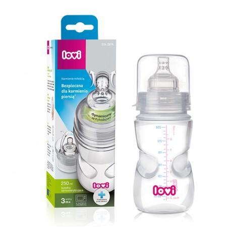 Butelka samosterylizująca z użyciem mikrofali Lovi 250 ml 0m+ 21/571