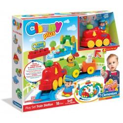 Zabawka Clemmy Plus Stacja Kolejowa 18m+ Clementoni 14928