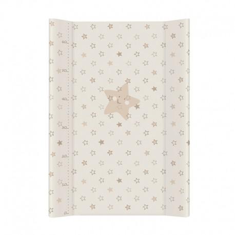 Tapicerka krótka miękka 50x70 cm Ceba Baby Gwiazdki Beżowe