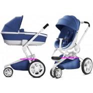 wózek dziecięcy Quinny Moodd 2w1 Blue Base na białej ramie Edycja Limitowana