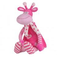 Maskotka z grzechotką 0m+ BabyOno 1194 Różowa Żyrafa 53 cm