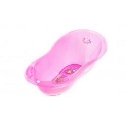 Wanienka 102 cm Tega Baby AQ-005 Aqua transparentna - różowa