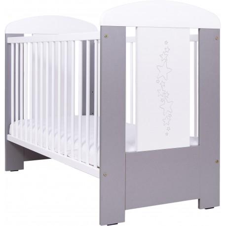 Gwiazdki srebrno-białe - łóżeczko standard