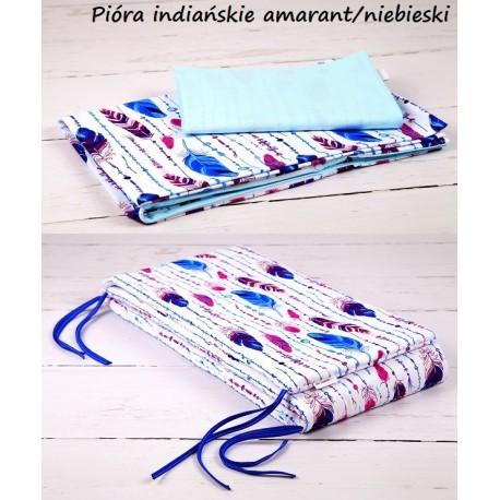 3-el Pióra Indiańskie amarant-niebieski