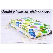 Ochraniacz do łóżeczka Infantilo - Słonie niebiesko-zielone ecru
