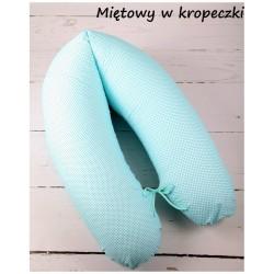 Poduszka dla mamy Infantilo Rogal duży wypełnienie silikon - Miętowy w kropeczki