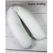Poduszka dla mamy Infantilo Rogal duży wypełnienie silikon - Szara kratka