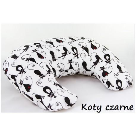 Poduszka Rogal mały - Koty czarne