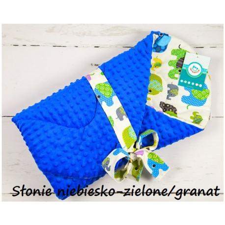 Becik Minky - Słonie niebiesko-zielone granat