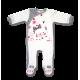 Pajac z długim rękawem Lafel Cat kod 9597 biały+ecru rozm. 56-74 cm