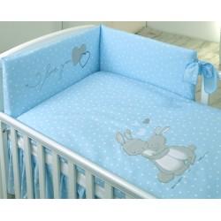 Pościel 3-el AMY My Little Bunny - niebieska
