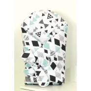 Becik AMY dwustronny Aztec Arrows-Diamonds - mięta