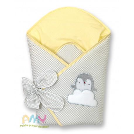 Becik AMY Pingwiny - żółty