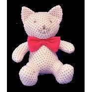 Maskotka przytulanka GONZO 0767 Kotka Bunia 25 cm - różowy-amarant