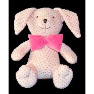 Maskotka przytulanka GONZO 0736 Zajączek Puszek 25 cm - różowy-amarant