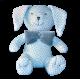 Maskotka przytulanka GONZO 0736 Zajączek Puszek 25 cm - niebieski-szary