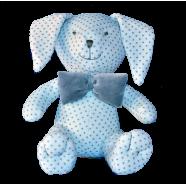 Maskotka przytulanka GONZO 0736 Zajączek Puszek 25 cm - niebieski