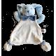 Maskotka przytulanka chusteczka GONZO 0769 Zajączek Puszek 25 cm - niebieski-granat