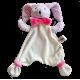 Maskotka przytulanka chusteczka GONZO 0769 Zajączek Puszek 25 cm - różowy-amarant