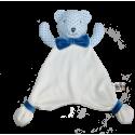 Maskotka przytulanka chusteczka GONZO 0770 Miś Alek 30 cm - niebieski-granat