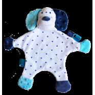 Maskotka przytulanka chusteczka GONZO 0833 Piesek Czaruś 30 cm - niebieski-granat