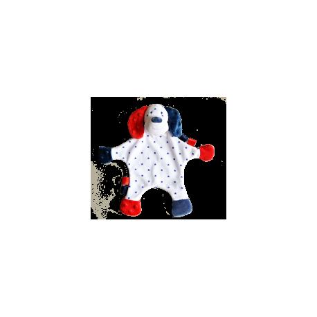 Maskotka przytulanka chusteczka GONZO 0833 Piesek Czaruś 30 cm - granat-czerwień