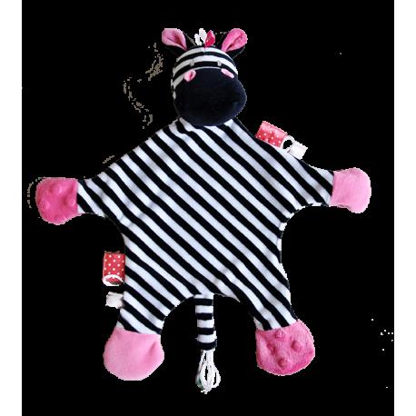 Maskotka przytulanka chusteczka GONZO 0837 Żyrafka Zizi - różowa