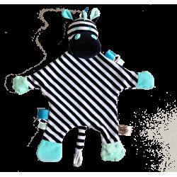 Maskotka przytulanka chusteczka GONZO 0837 Żyrafka Zizi - miętowa