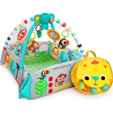 Mata kojec Plac Zabaw Fikająca Małpka Deluxe z piłeczkami Bright Starts BS 10754