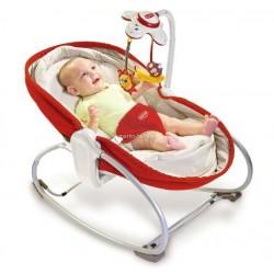 Leżaczek bujaczek łóżeczko 3w1 Tiny Love TL1801006830R - czerwony