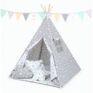 Namiot Tipi Mamo-Tato - Gwiazdy szare / gwiazdy białe