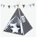 Namiot Tipi Mamo-Tato - Maroko czarne / biały