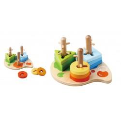 Drewniane Puzzle 10 elementów od 12m+ Sun Baby E01.032 - 26 cm