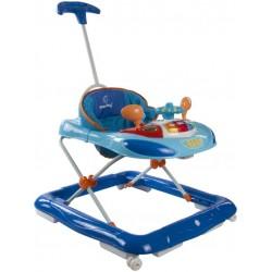 Chodzik Sun Baby z kierownicą i popychaczem B01.006 - niebieski