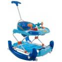 Chodzik kołyska z kierownicą i popychaczem Sun Baby B01.014 - niebieski