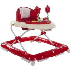 Chodzik Sun Baby Super Lux SB-850F - czerwono-kremowy
