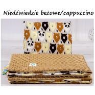 Kocyk Minky 75x100 cm + poduszka 35x30 cm Infantilo - Niedźwiedź Beż+Cappucino