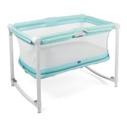 Łóżeczko Chicco Zip&Go dwupoziomowe dla dzieci od 0 do 24 m - Aquarelle