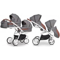 Wózek dziecięcy bliźniaczy EasyGo 2ofUs - Anthracite