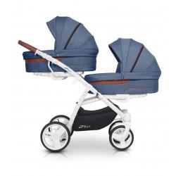 Wózek dziecięcy bliźniaczy EasyGo 2ofUs - Denim