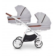 Wózek dziecięcy bliźniaczy EasyGo 2ofUs - Gey Fox