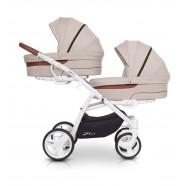 Wózek dziecięcy bliźniaczy EasyGo 2ofUs - Latte