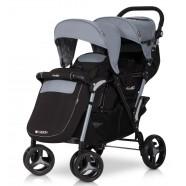 Wózek dziecięcy bliźniaczy EasyGo Fusion spacerowy - Grey Fox