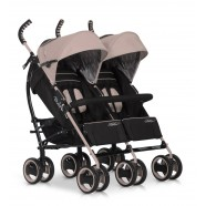 Wózek dziecięcy bliźniaczy EasyGo Duo Comfort spacerowy - Latte