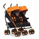 Wózek dziecięcy bliźniaczy EasyGo Duo Comfort spacerowy - Electric Orange
