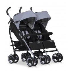 Wózek dziecięcy bliźniaczy EasyGo Duo Comfort spacerowy - Grey Fox
