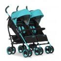 Wózek dziecięcy bliźniaczy EasyGo Duo Comfort spacerowy - Malachite