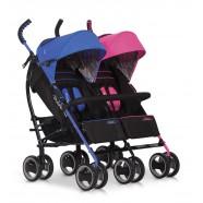 Wózek dziecięcy bliźniaczy EasyGo Duo Comfort spacerowy - Mix