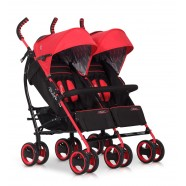 Wózek dziecięcy bliźniaczy EasyGo Duo Comfort spacerowy - Scarlet