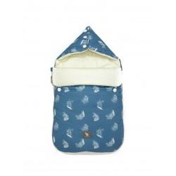 Śpiworek do wózka i fotelika Cottonmoose - 330 Leaf Azure Cotton